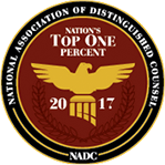National Association of Distinguished Counsel, Top One 2017