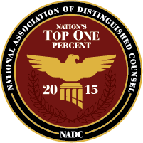 National Association of Distinguished Counsel, Top One 2015