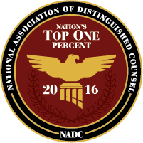 National Association of Distinguished Counsel, Top One 2016
