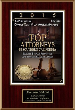 Top Attorneys in Southern California recognition - 2015